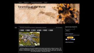 Tarantulas of the World - Caresheets and Information