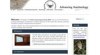 British Arachnological Society