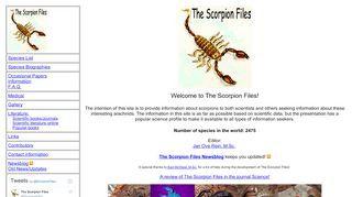 The Scorpion Files