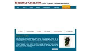 Acrylic reptile and tarantula cages