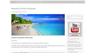 Tarantula Husbandry blog