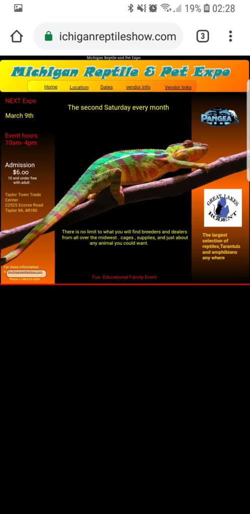 Michigan reptile show and pet expo